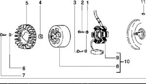 Flywheel-magneto-125 2T