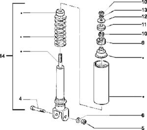 rear shock absorber 125 2t